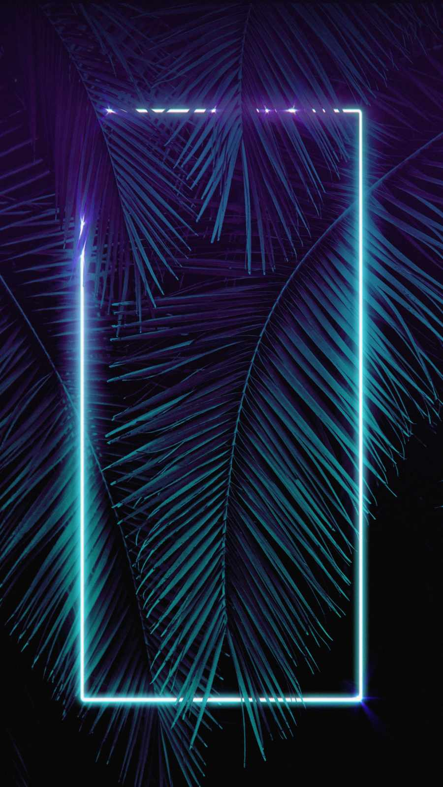 Neon Light Palm Tree