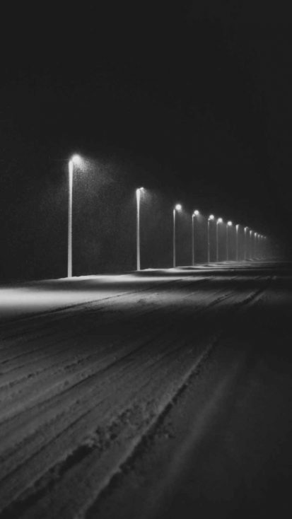 Night Winter Road
