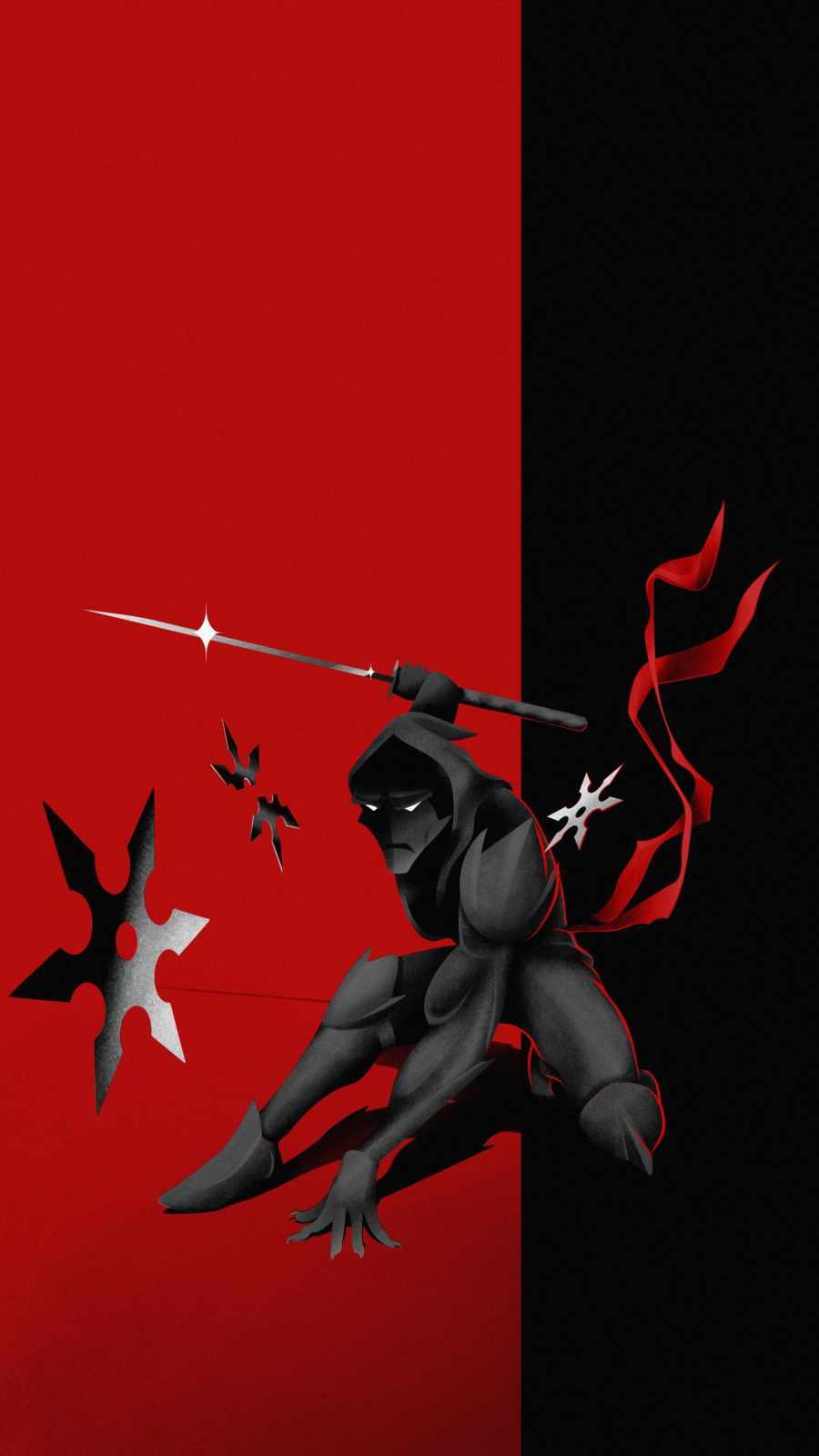 Ninja Attack iPhone Wallpaper