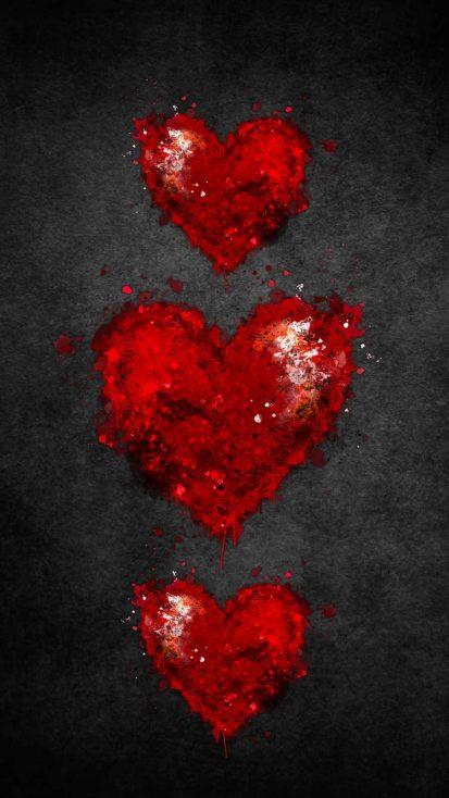 Red Heart iPhone Wallpaper