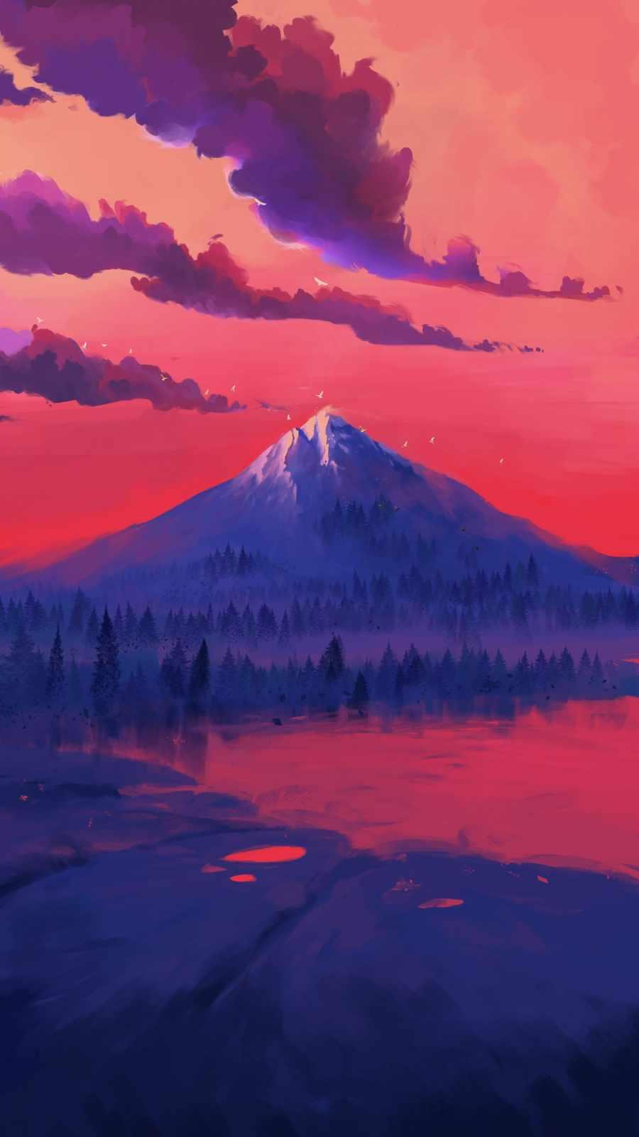 Red Lake iPhone Wallpaper