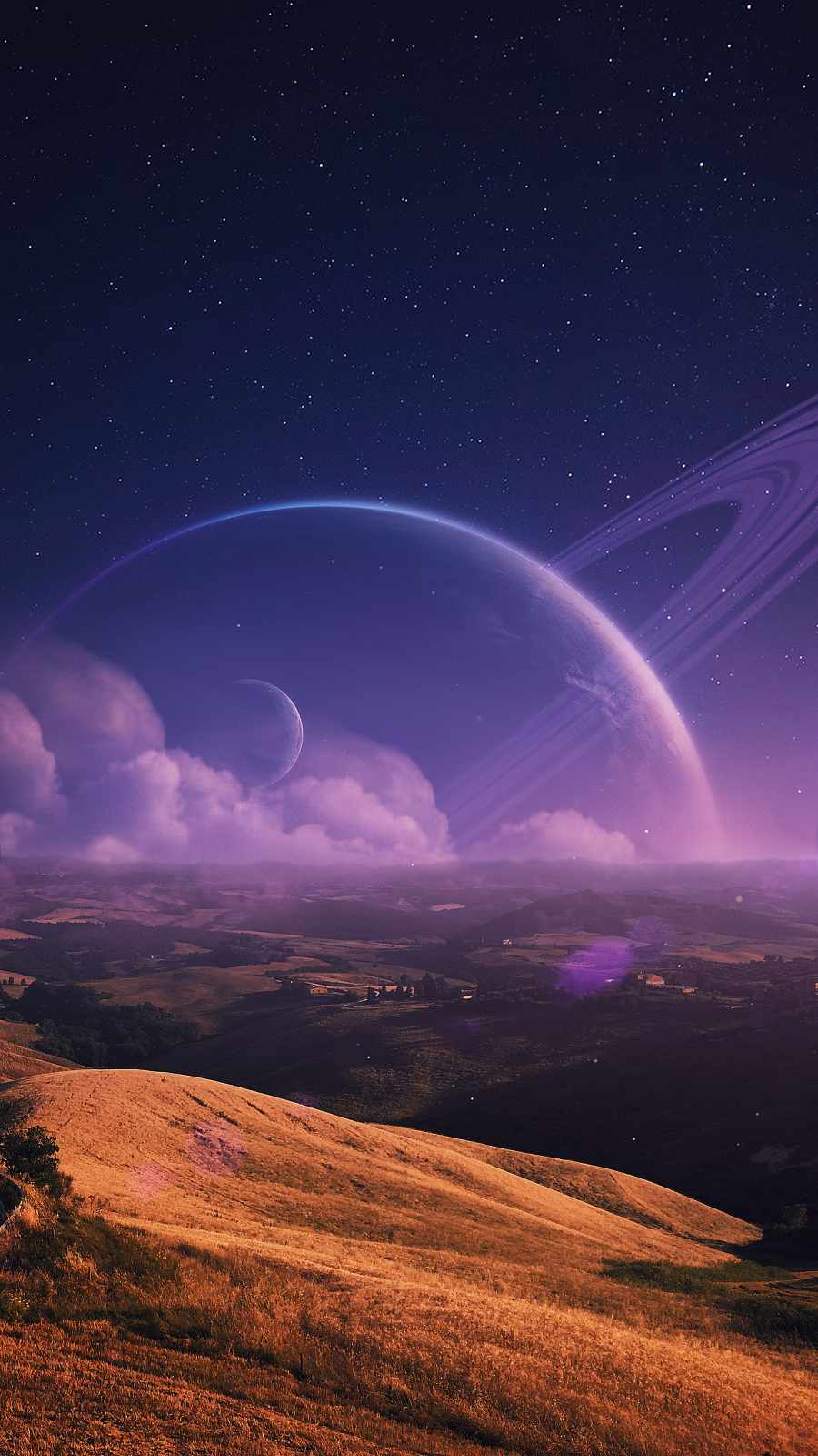 Ring Planet Clouds
