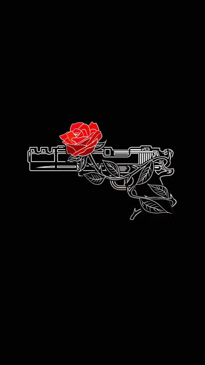 Rose Gun iPhone Wallpaper