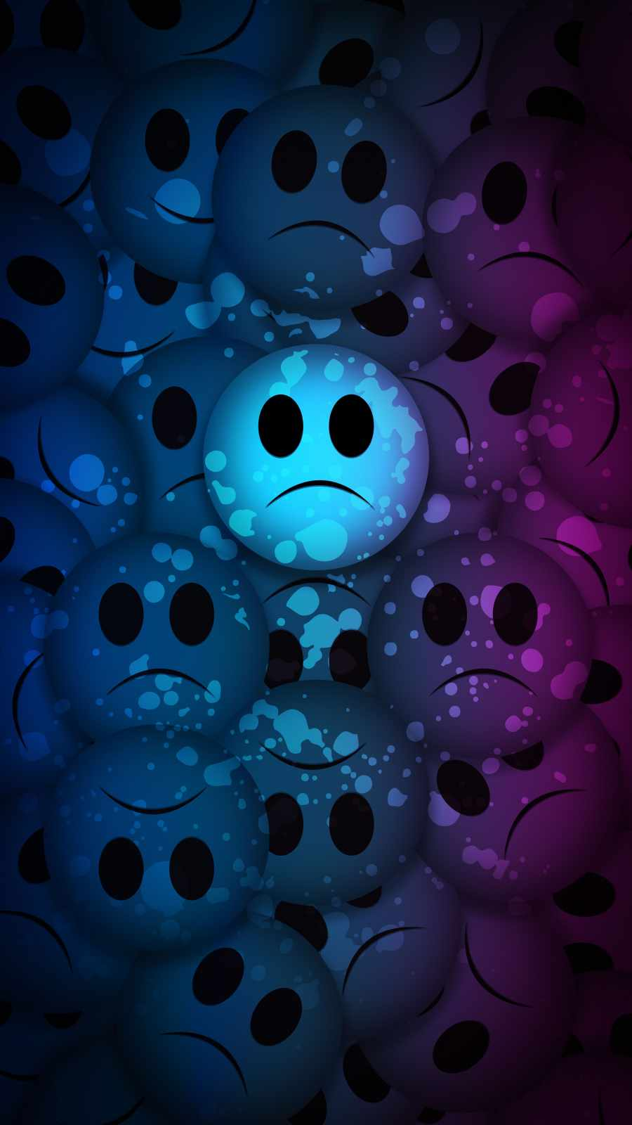 Sad Faces iPhone Wallpaper