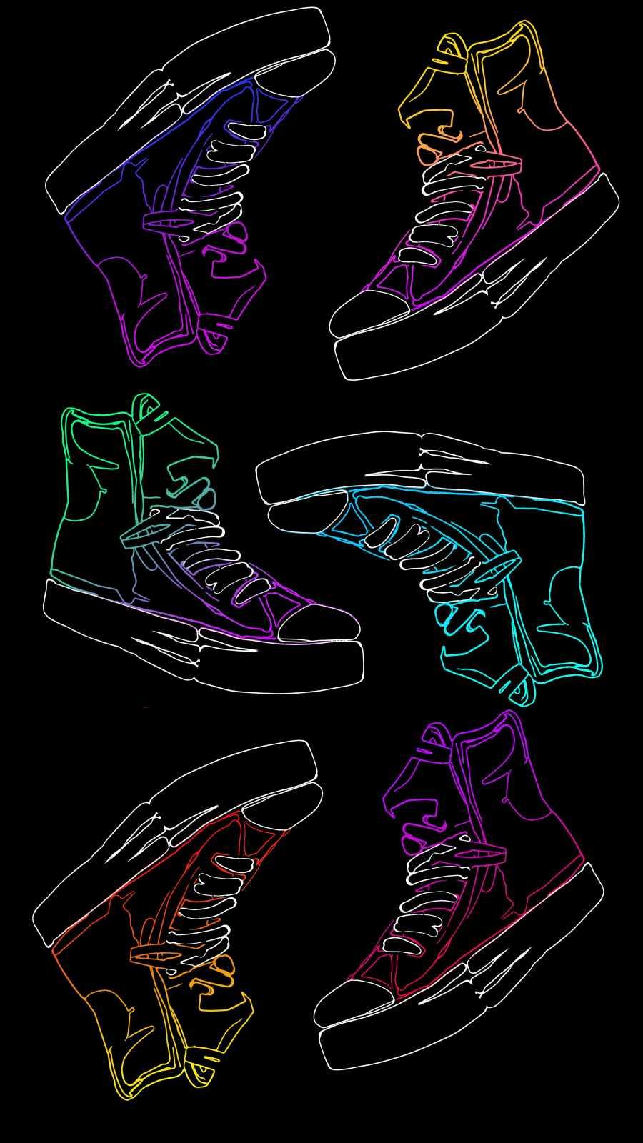 Sneaker Kicks iPhone Wallpaper