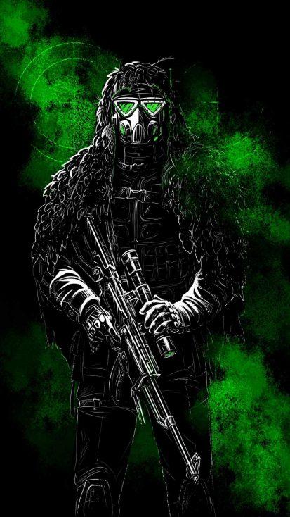 Sniper Soldier iPhone Wallpaper