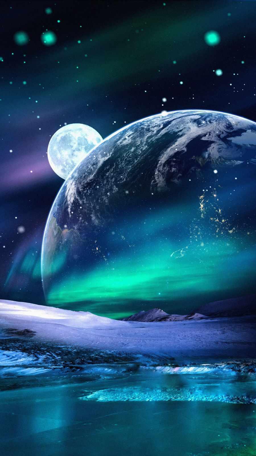 Space Aurora Lights Earth View