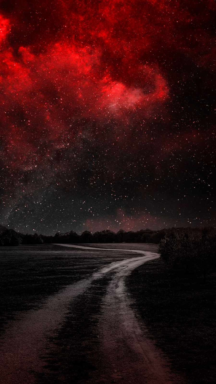 Starry Night Red Nebula