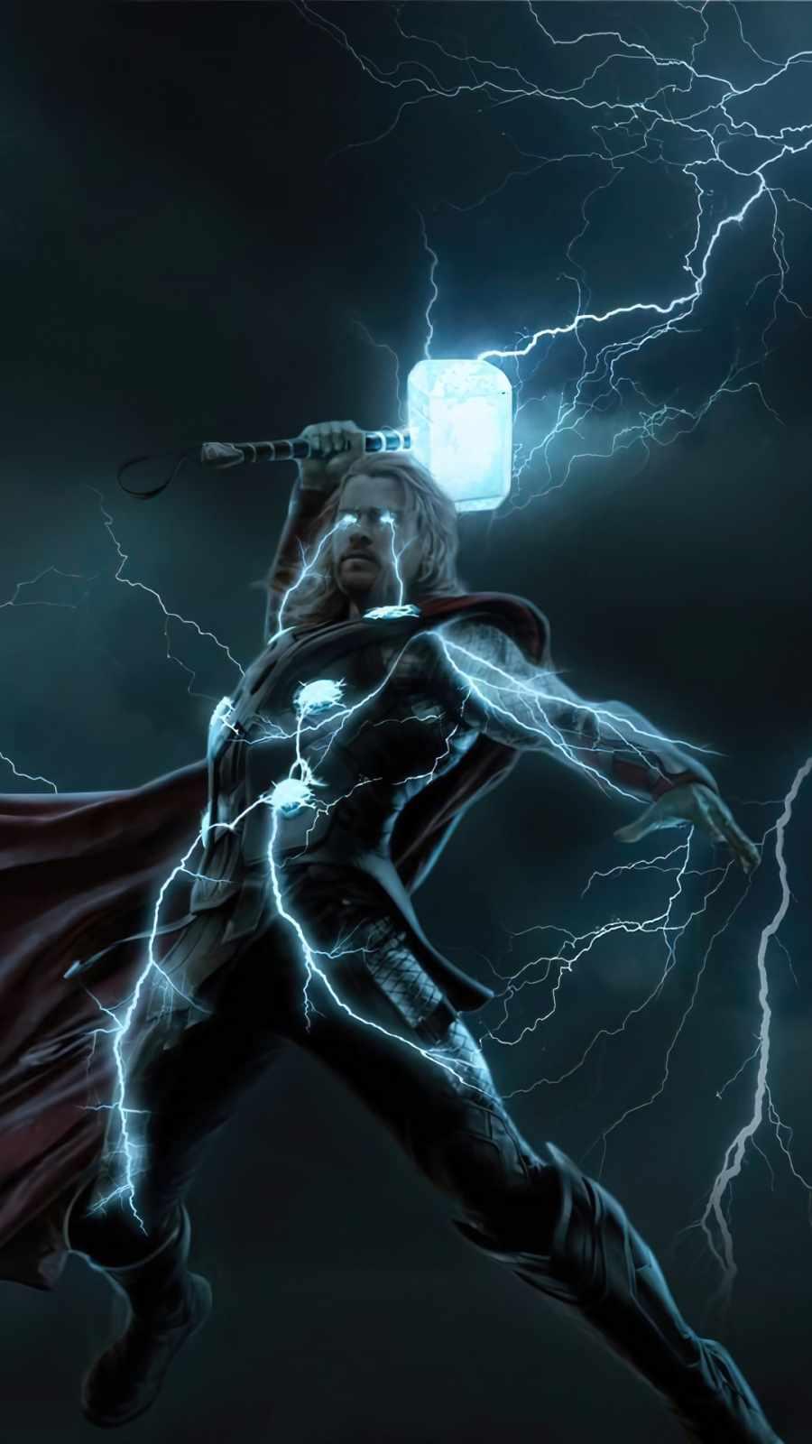 Thunder Thor iPhone Wallpaper