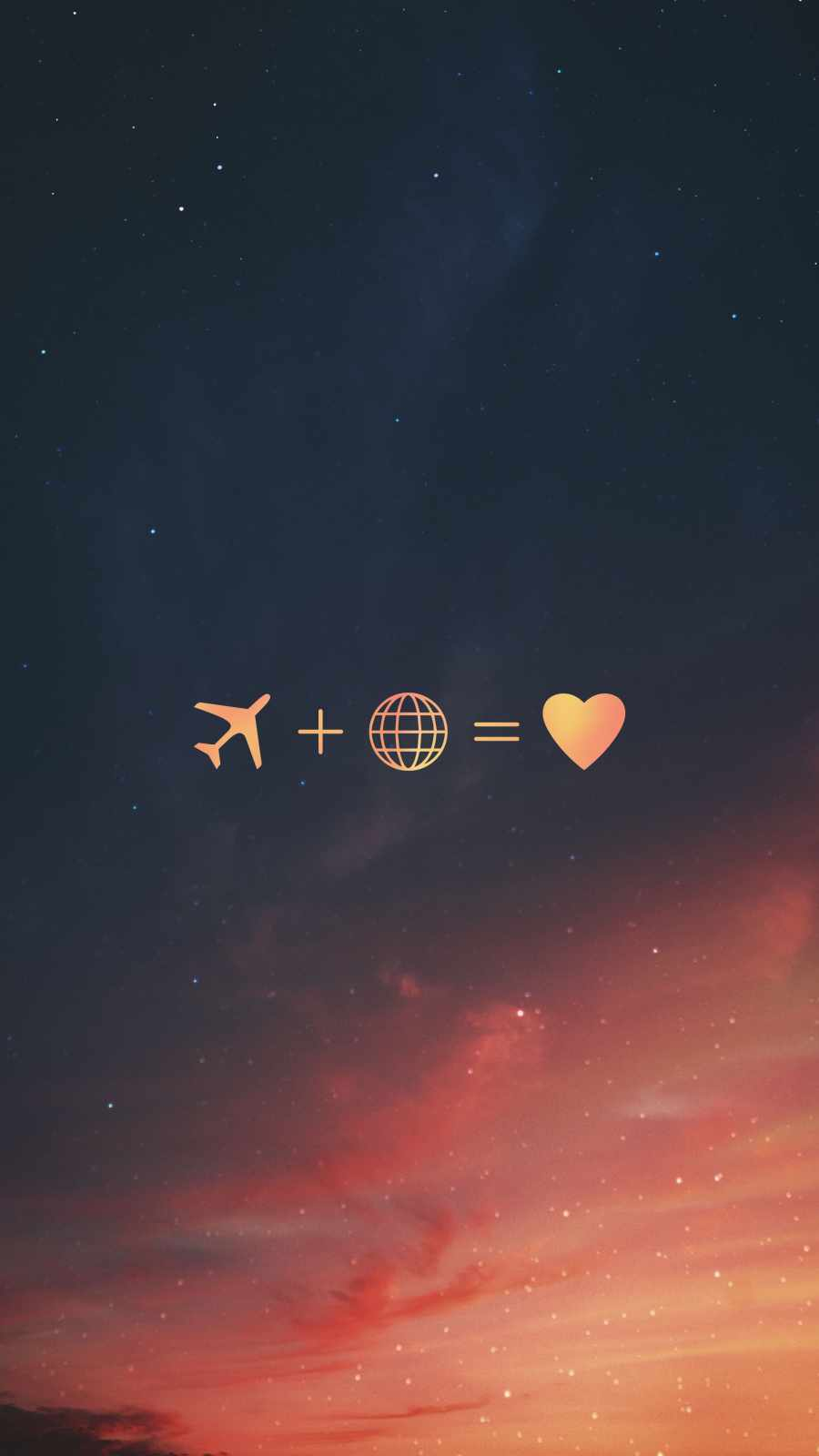 Travelling is Love iPhone Wallpaper