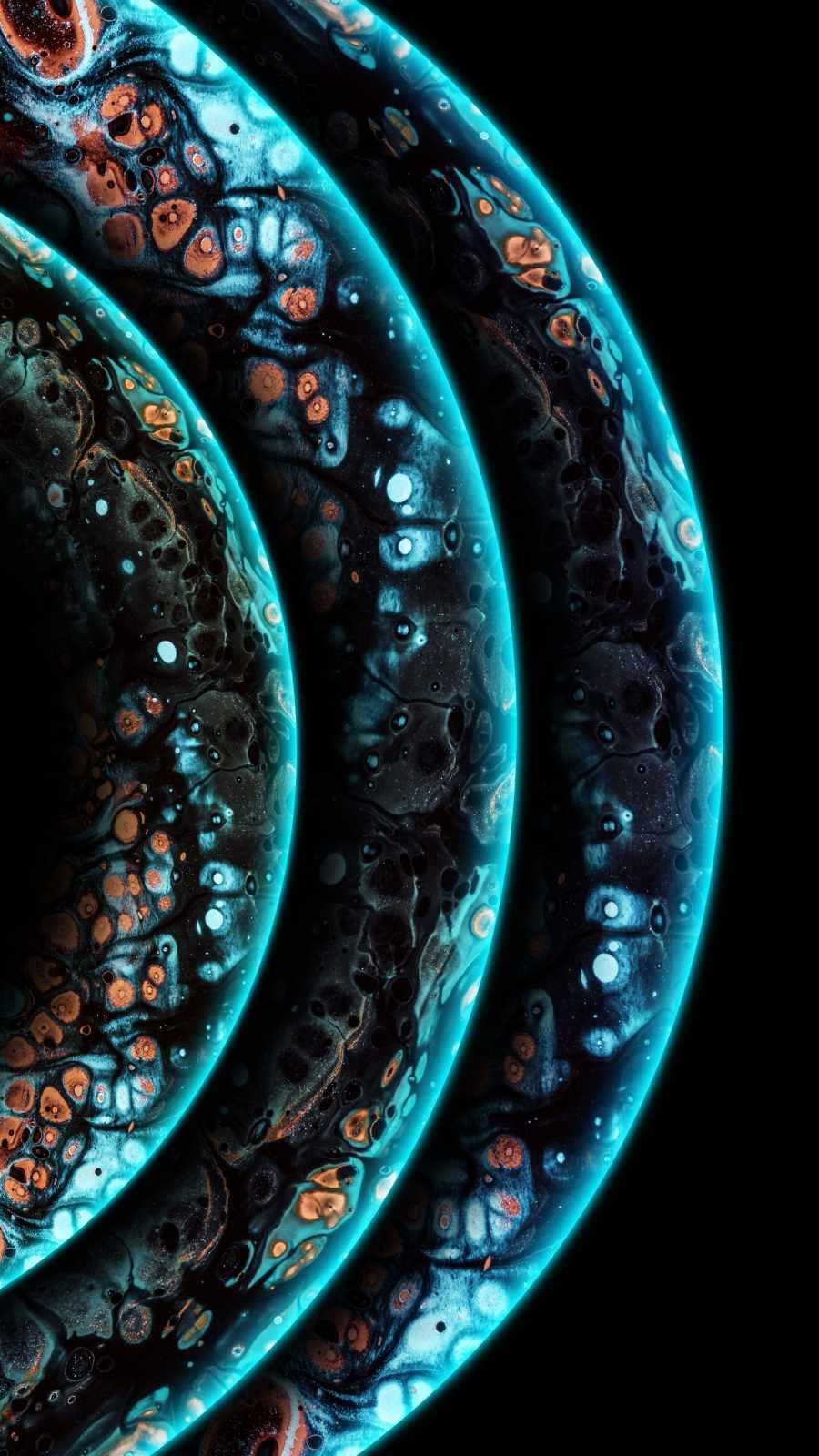 Triple Planets iPhone Wallpaper