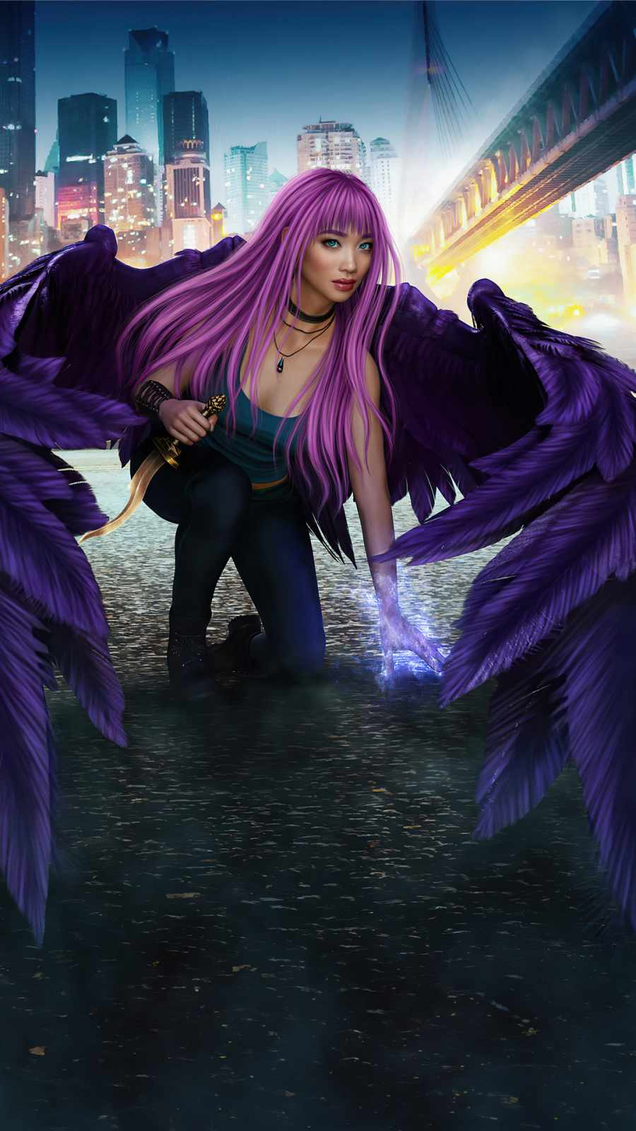 Wings of destiny iPhone Wallpaper