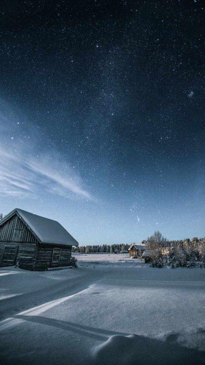 Winter Sky iPhone Wallpaper