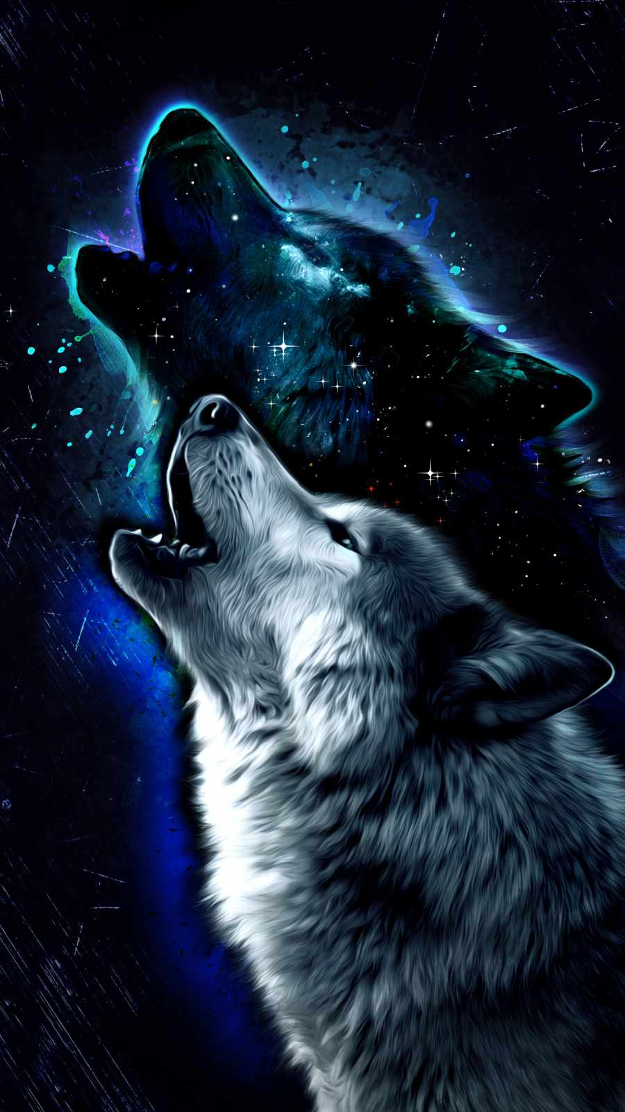 Wolf Hawl Art iPhone Wallpaper