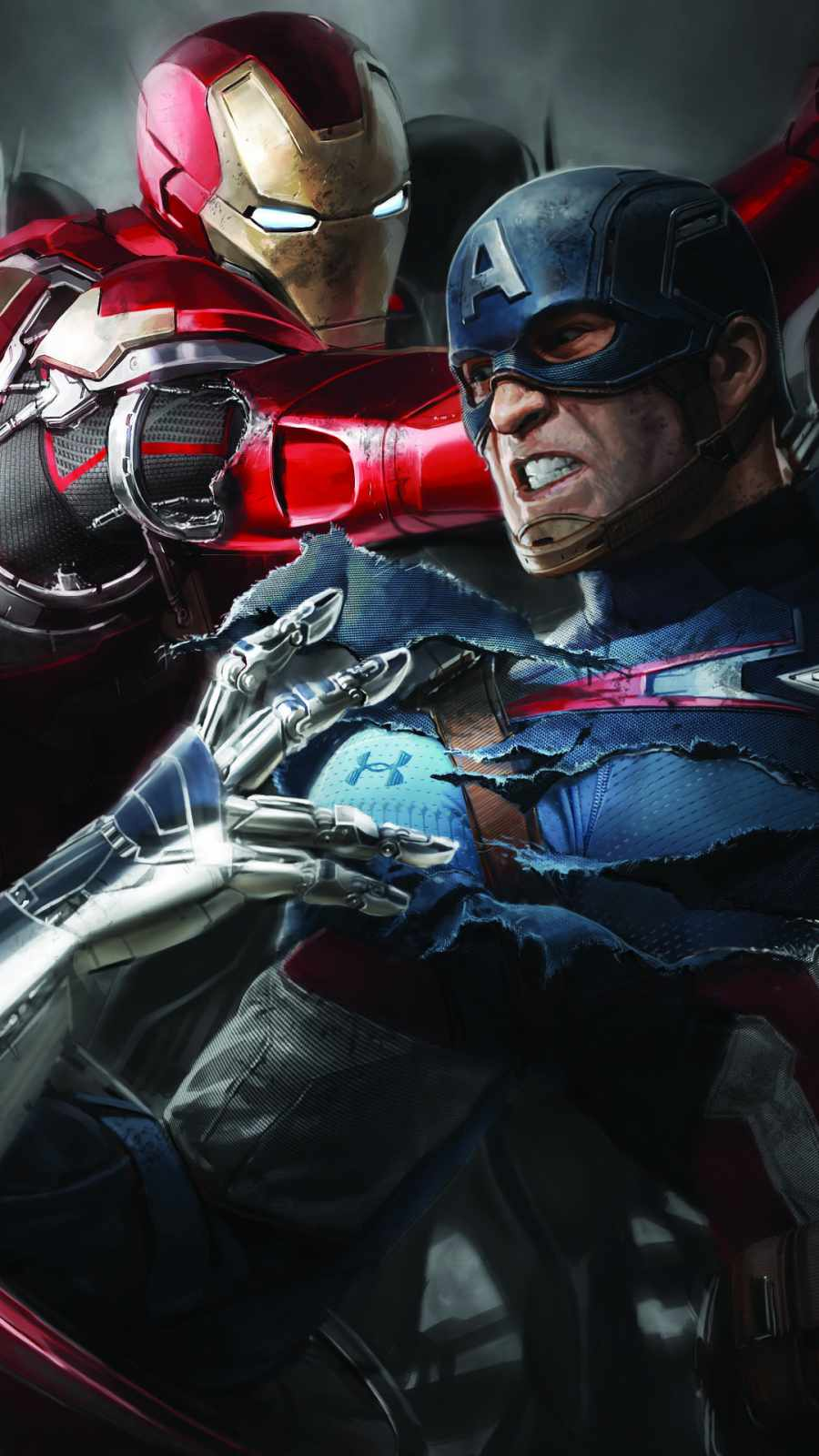 iron man and captain america fight