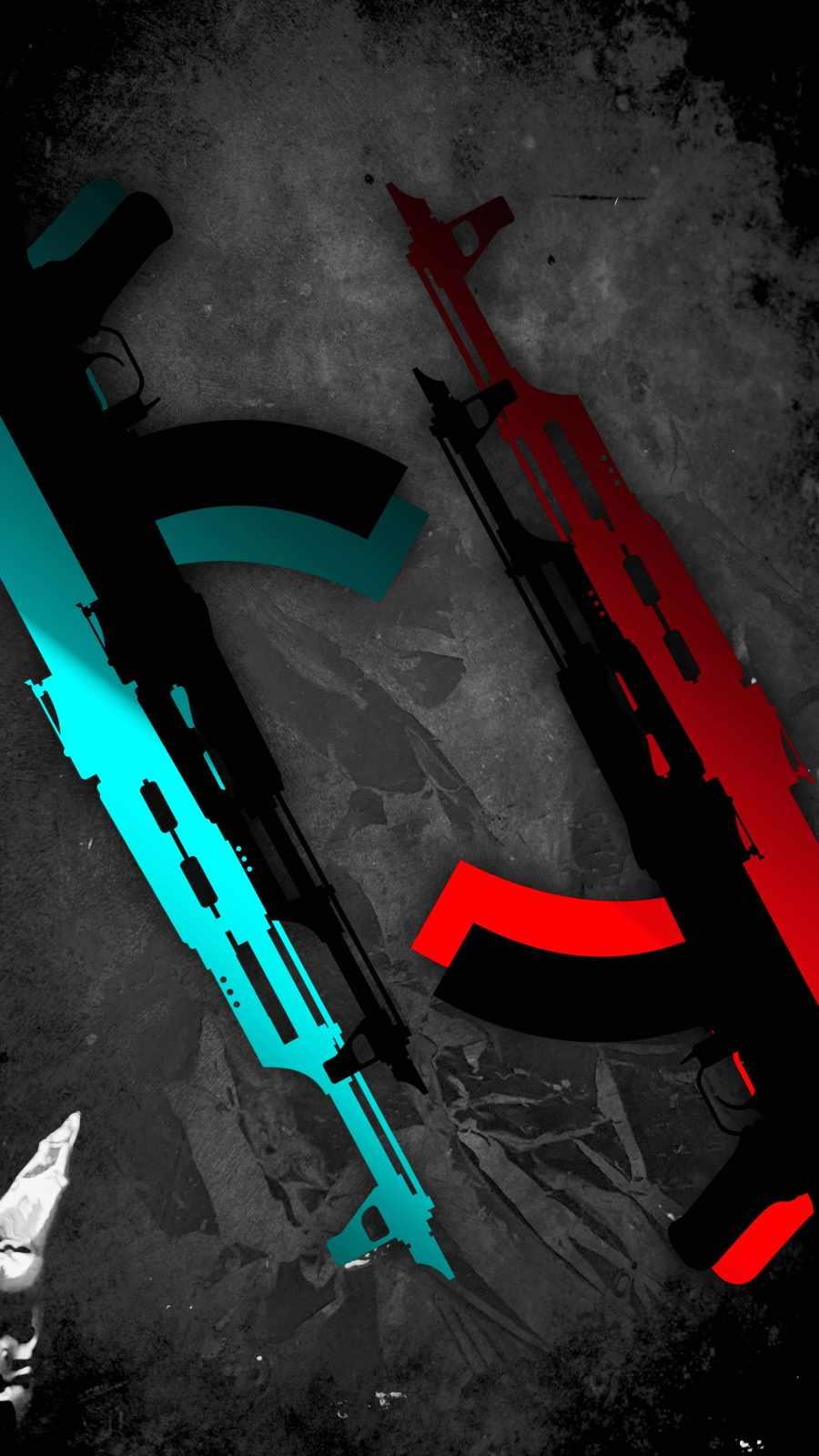 AK 47 Art iPhone Wallpaper