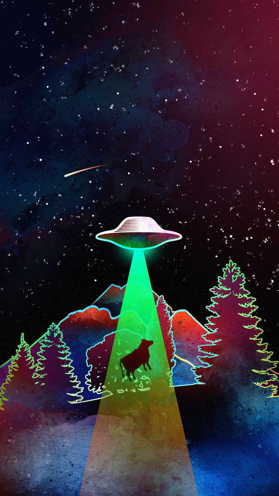 Alien Hijack iPhone Wallpaper