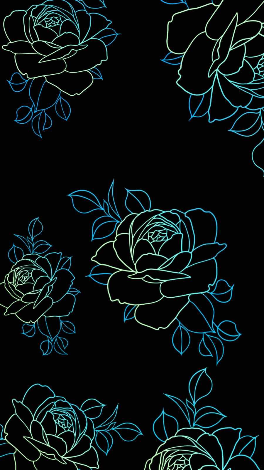 Amoled Flowers iPhone Wallpaper
