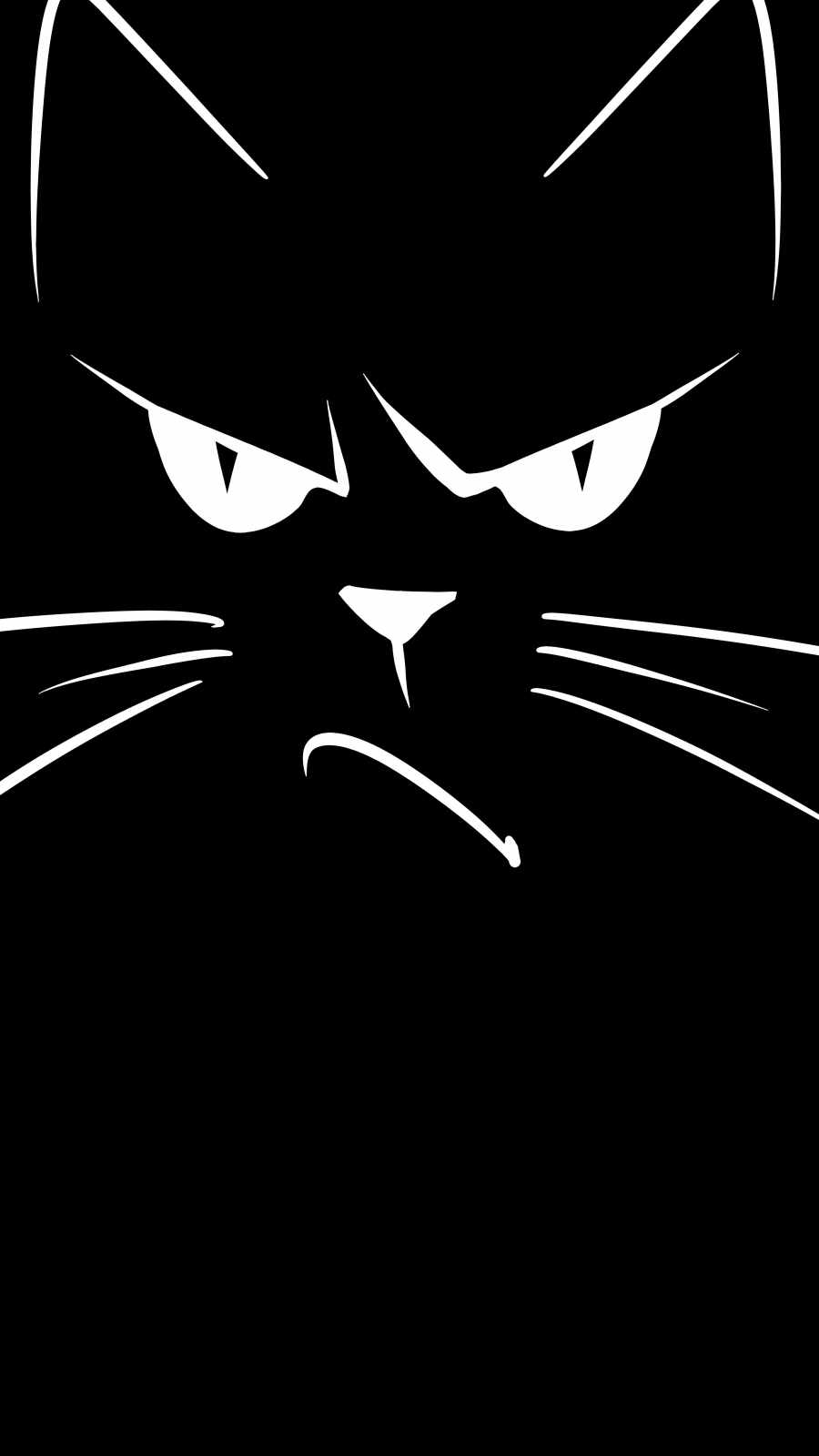 Angry Cat Face iPhone Wallpaper