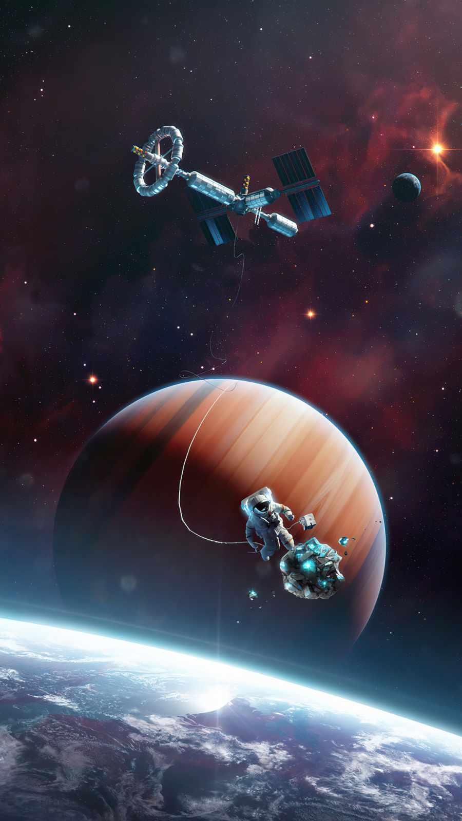 Astronaut left station