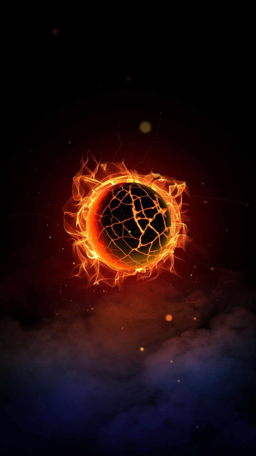 Burning Planet iPhone Wallpaper