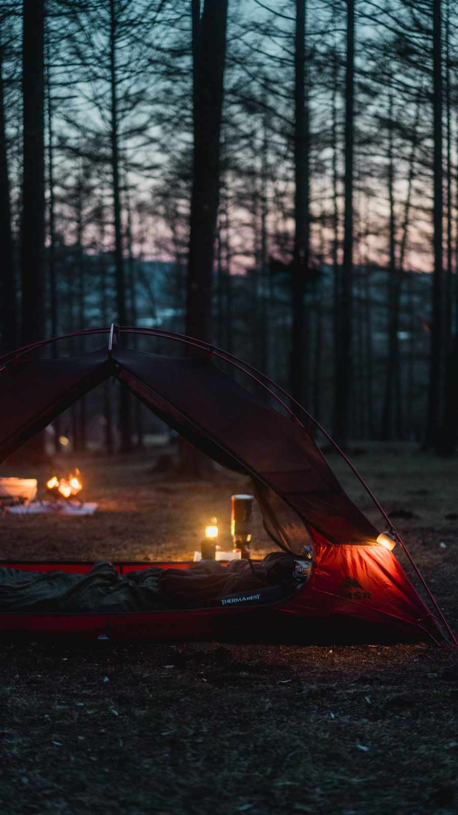 Camping Tent iPhone Wallpaper