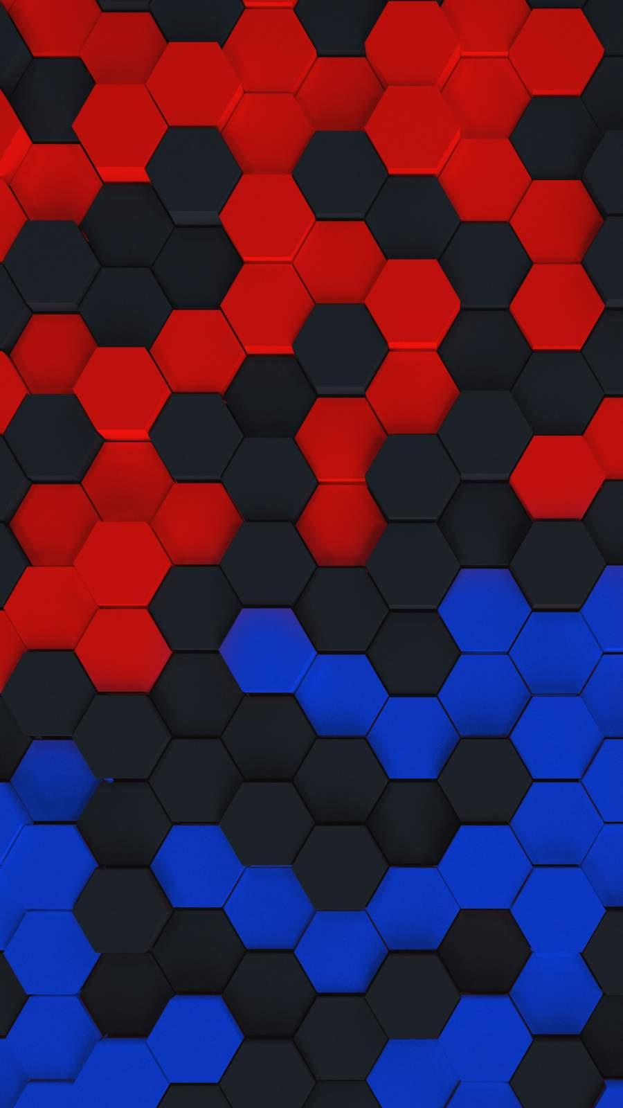 Color Hexagons iPhone Wallpaper
