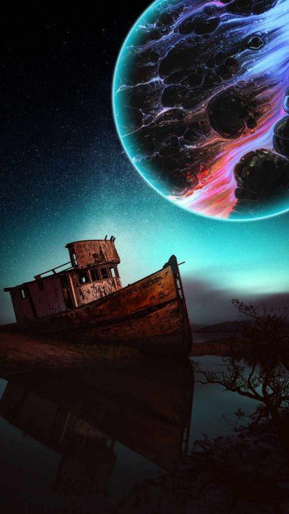 Dark Moon iPhone Wallpaper