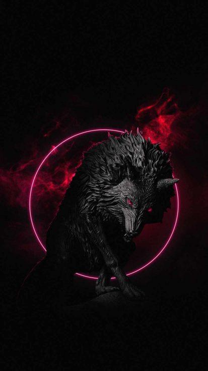 Dark Wolf iPhone Wallpaper
