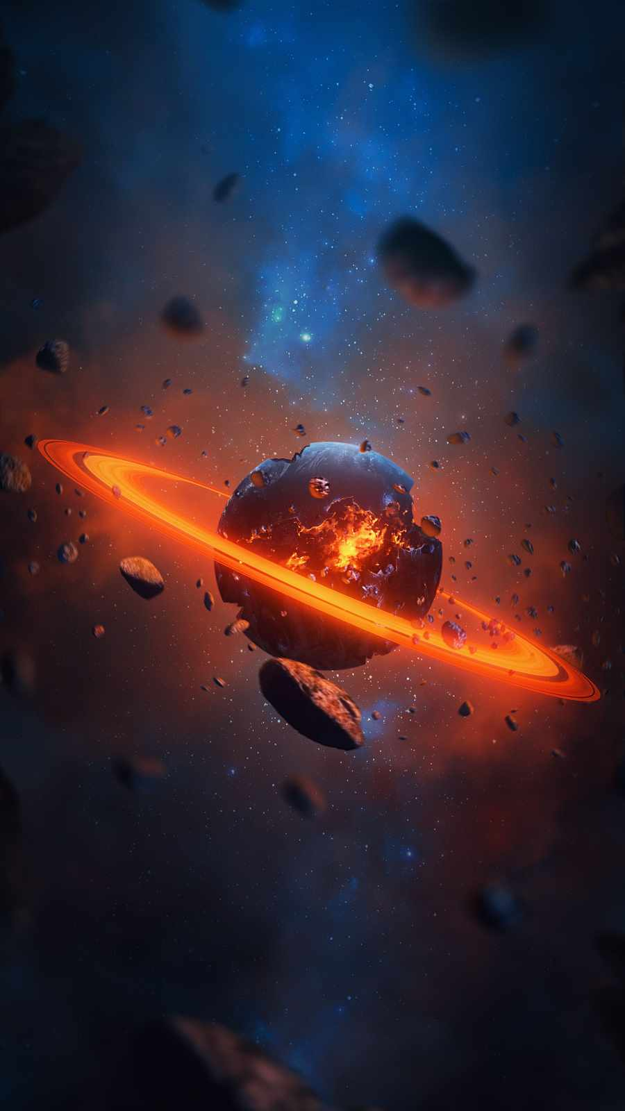 Destroyed Planet iPhone Wallpaper