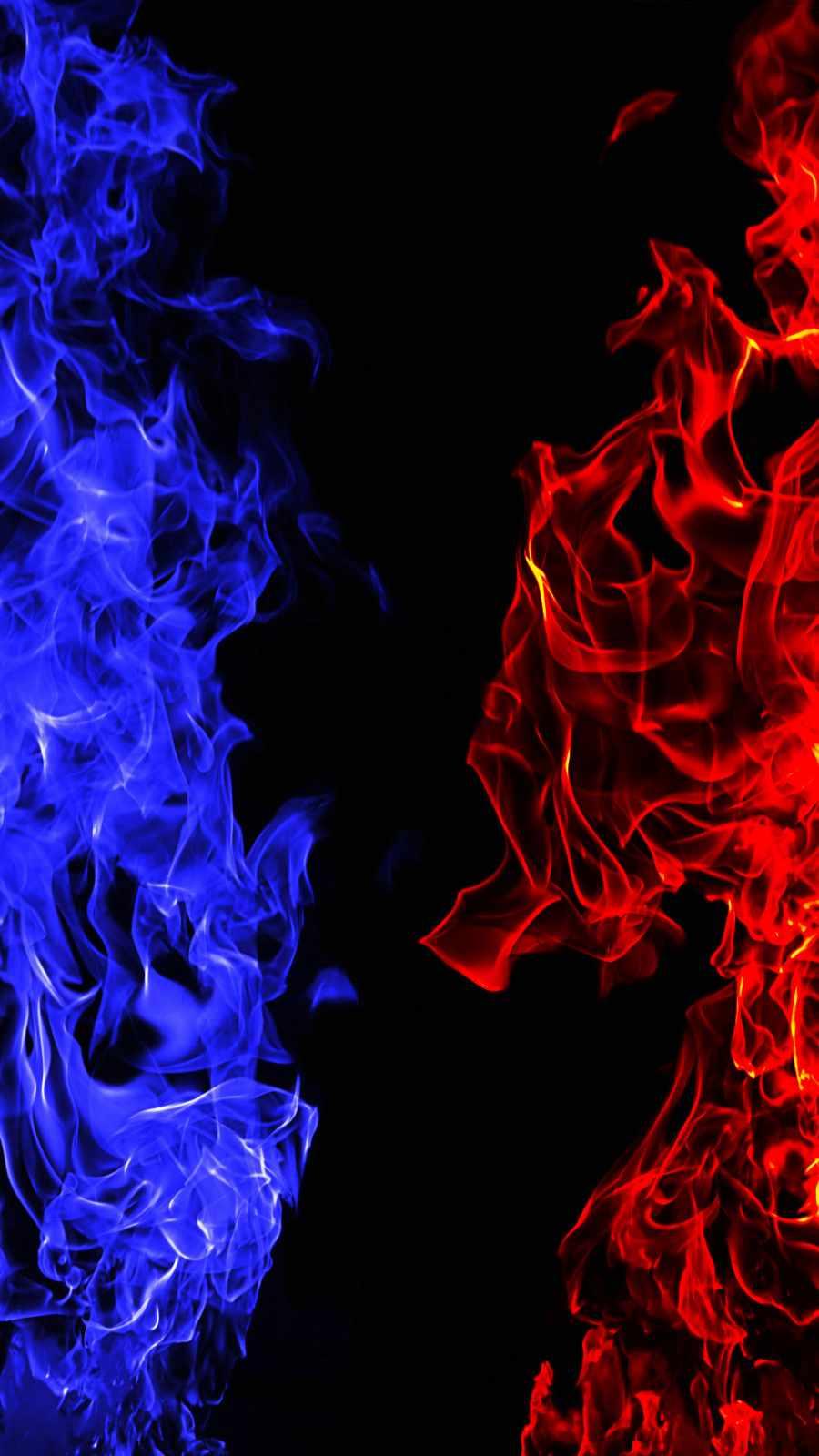 Fire vs Ice iPhone Wallpaper