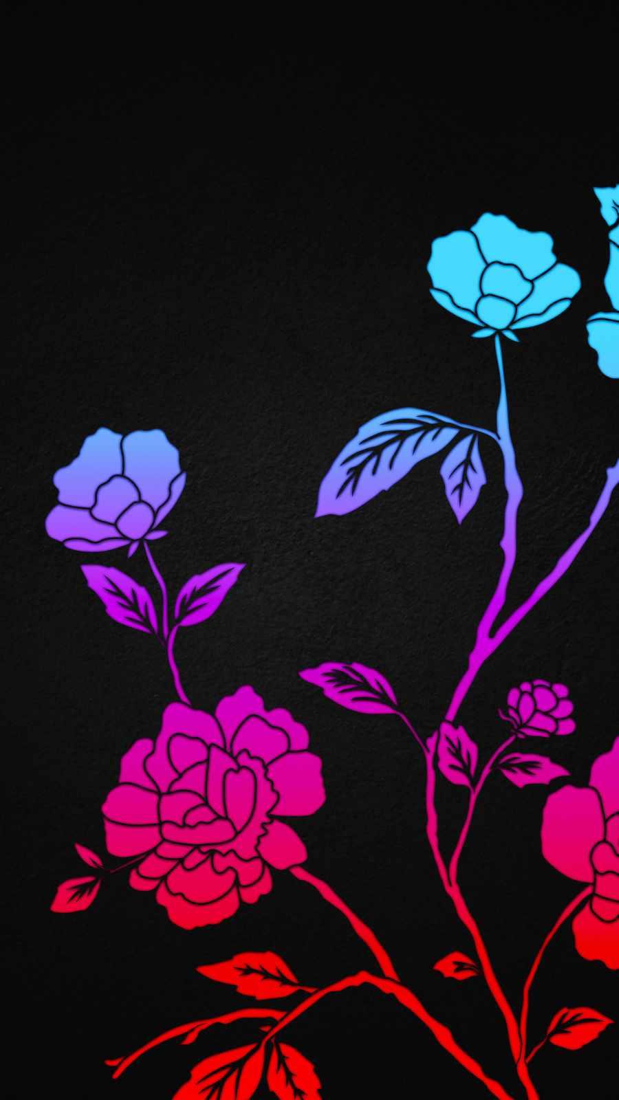 Flower Plant Art iPhone Wallpaper
