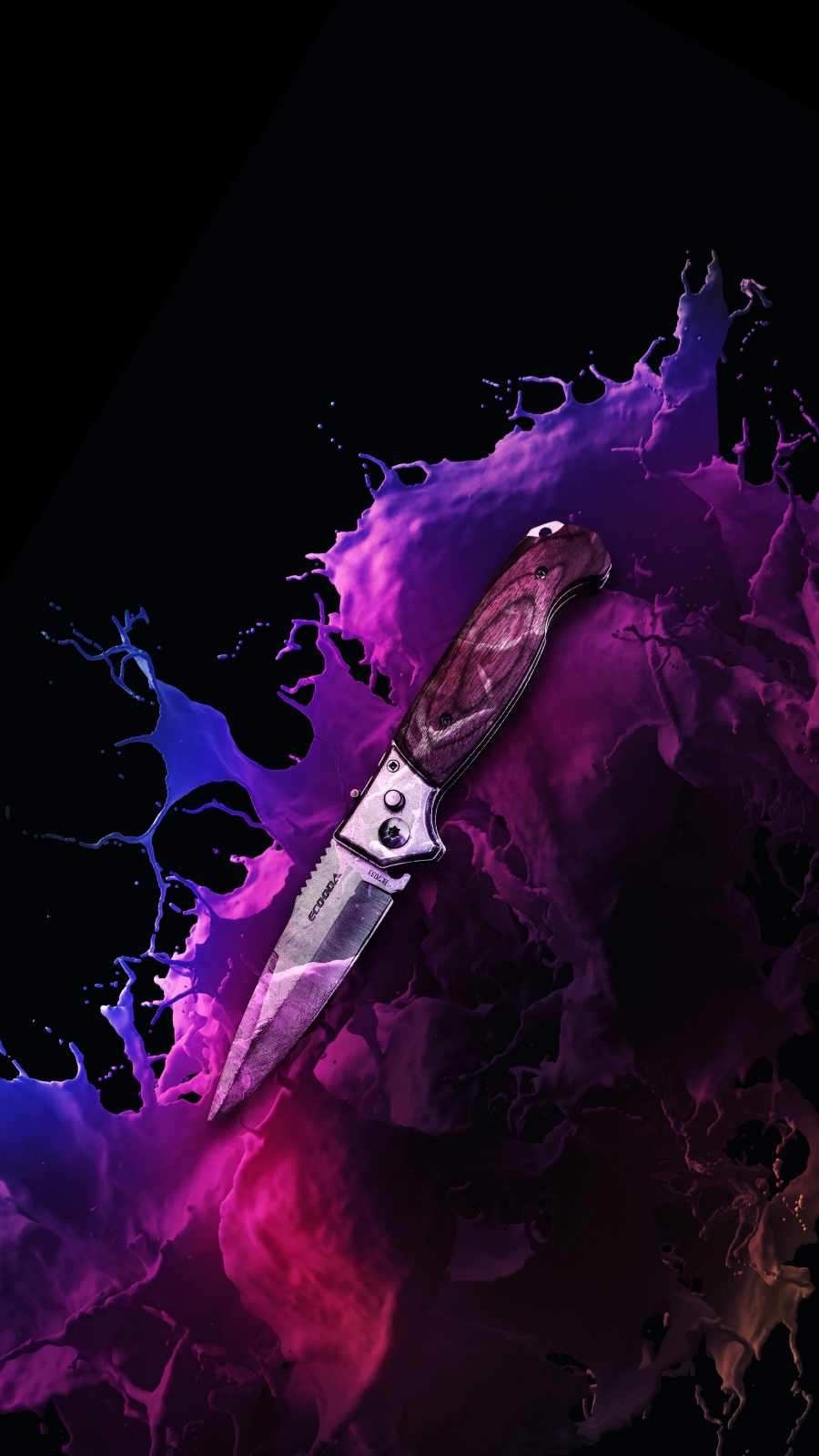 Folding Knife iPhone Wallpaper