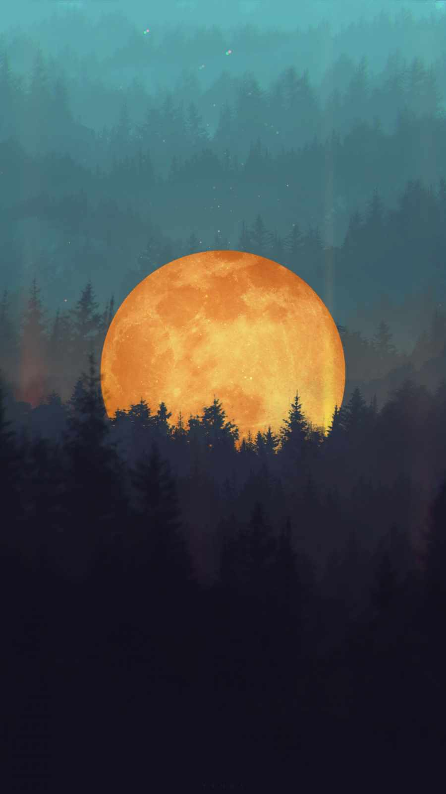 Forest Moon iPhone Wallpaper