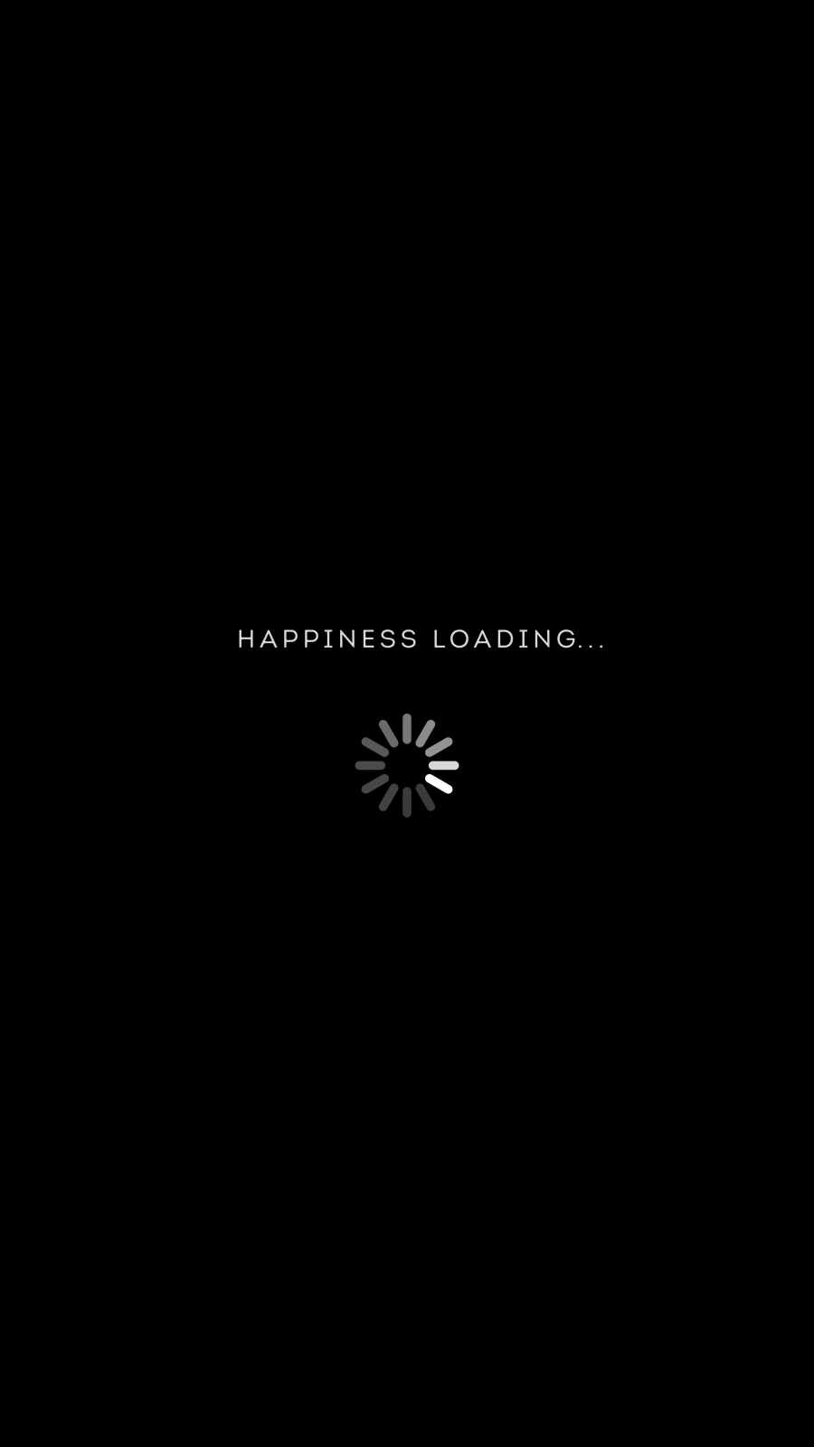 Happiness Loading iPhone Wallpaper