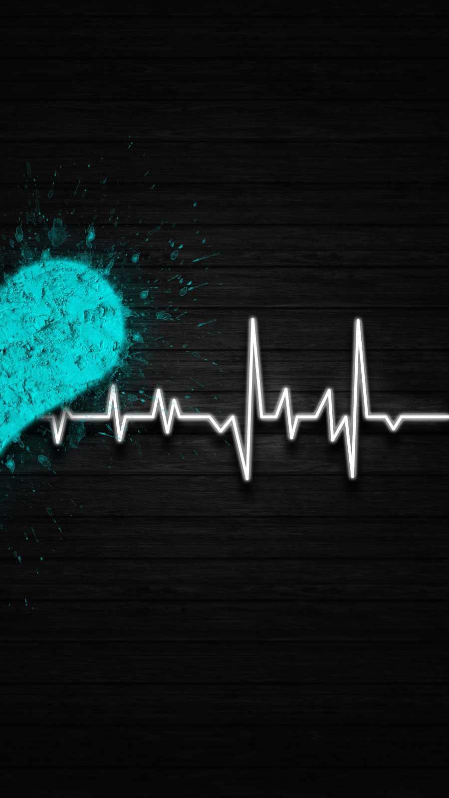 Heart Beat Art iPhone Wallpaper