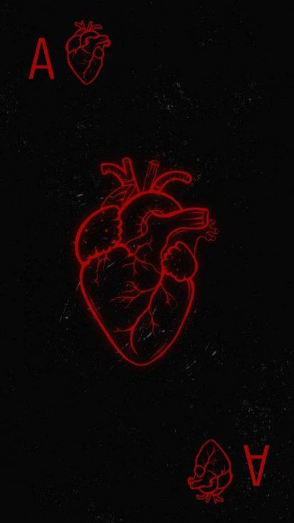 Heart Card iPhone Wallpaper