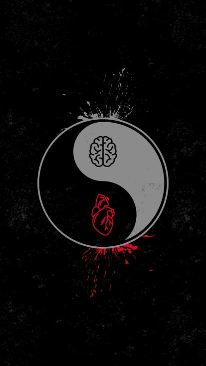 Heart vs Brain Yin Yang
