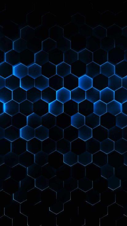 Hexagon Neon iPhone Wallpaper