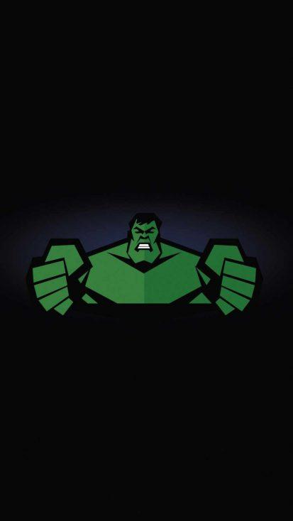 Hulk Minimal iPhone Wallpaper