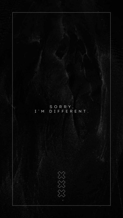 I am Different iPhone Wallpaper