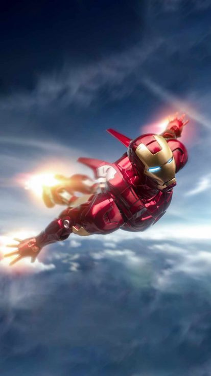 Iron Man Flying iPhone Wallpaper