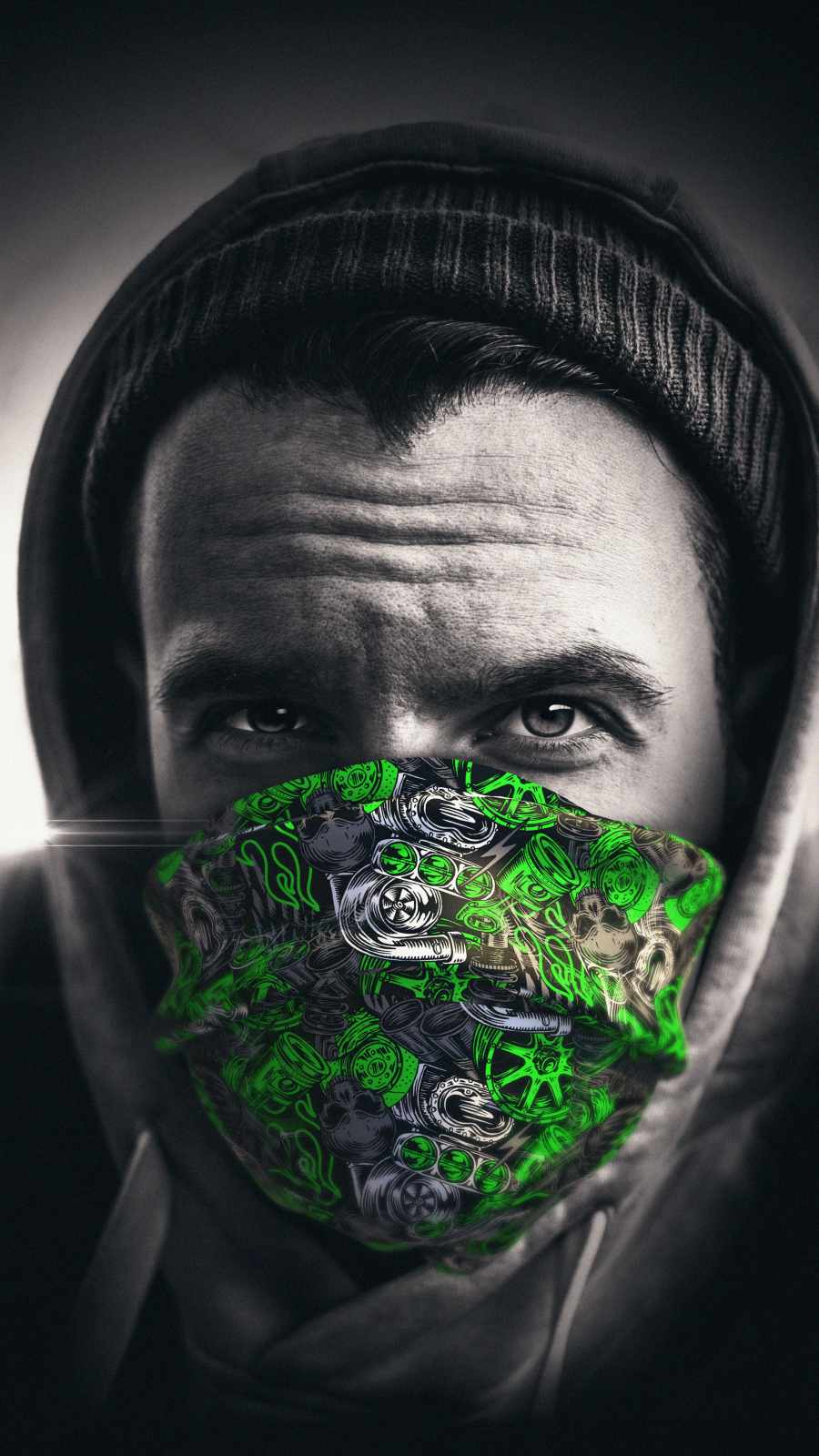 Masked Guy iPhone Wallpaper 1