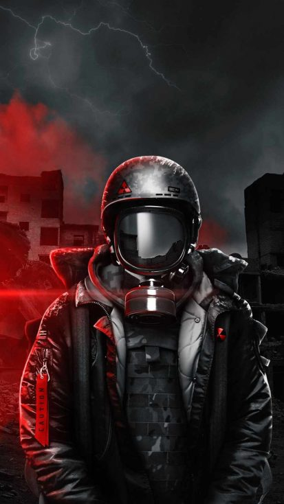Masked Soldier iPhone Wallpaper