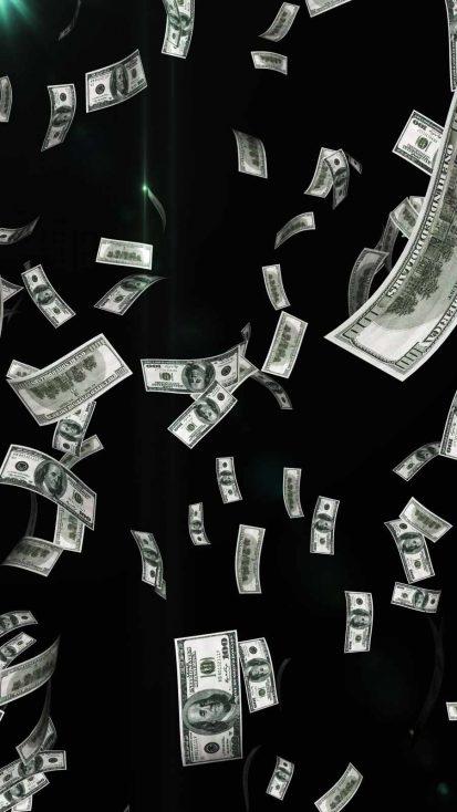 Money Fall iPhone Wallpaper