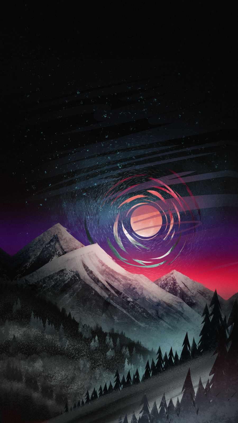 Mountain Art iPhone Wallpaper
