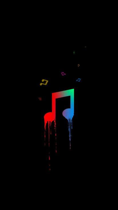 Music Amoled iPhone Wallpaper