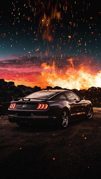 Mustang Mach 1 iPhone Wallpaper