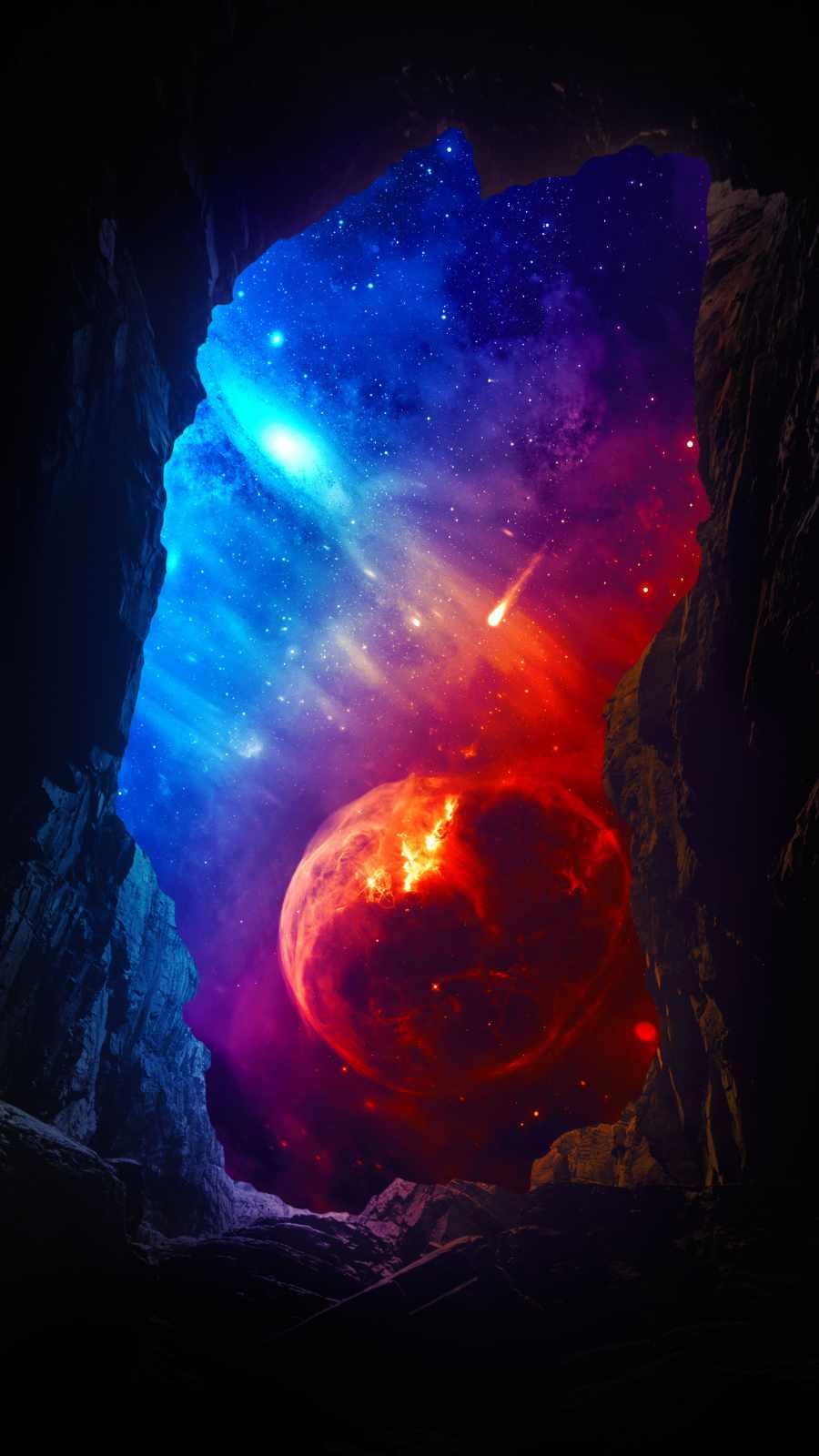 Nebula View into the Rocks