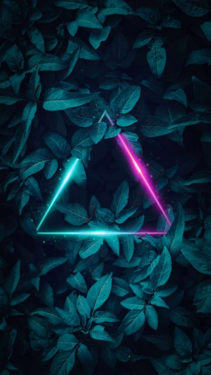 Neon Foliage Triangle
